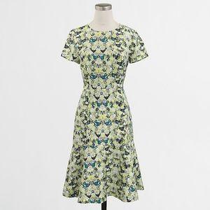 J. CREW floral print flared midi dress